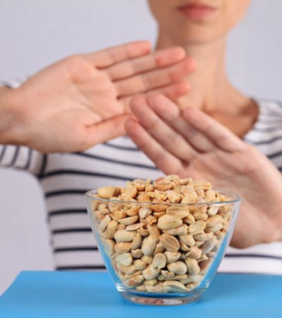 Peanut food allergy concept